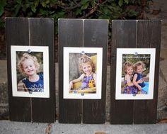 Set of 3 Brown 4 x 6 Distressed Wood Frames by WestAshleyWallArt