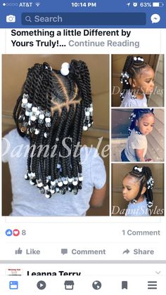 Lil Girl Hairstyles, Girls Natural Hairstyles, Natural Hairstyles For Kids, Kids Braided Hairstyles, Toddler Hairstyles, Black Hairstyles, Little Girl Braids, Braids For Kids, Girls Braids