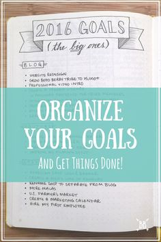 to Organize Your Goals + Get Things Done! A look at how I organize my goals in my bullet journal + how you can organize YOUR goals too!A look at how I organize my goals in my bullet journal + how you can organize YOUR goals too! Planner Bullet Journal, Bullet Journals, Life Planner, Planner Tips, 2016 Planner, Passion Planner, Happy Planner, College Problems, Filofax