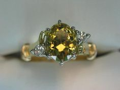 Yellow Sapphire ring - from the central Qld jewelfields
