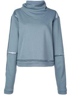 Alo Yoga 'advanced' Sportpullover Mit Weitem Rollkragen In Blue Alo Yoga, Sport Pullover, Sweaty Betty, Yoga Fashion, Hoodies, Sweatshirts, World Of Fashion, Size Clothing, Women Wear