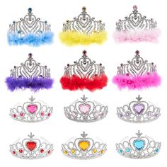 Blue Panda 12 Pack Princess Crowns and Tiaras for Little Girls, Kids Costume, Dress Up Accessories, Birthday Party Favors Little Girl Toys, Cool Toys For Girls, Baby Girl Toys, Baby Dolls, Little Girls, Disney Princess Room, Princess Toys, Princess Crowns, Disney Princess Dresses