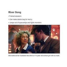 """river song  absolutely fantastic character⠀ #doctorwho"""