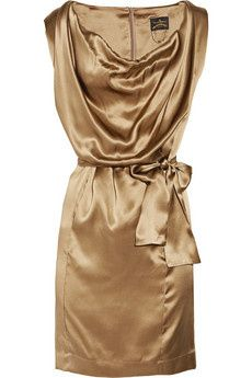 I love this Vivienne Westwood Anglomania Fulfillment belted silk dress (via Shop It To Me)