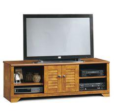 Meuble TV 2 portes 4 niches Bent - Erable brossé prix promo soldes La Maison de Valerie 149.99 € au lieu de 250.99 € TTC