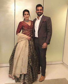 sagarika ghatge and zaheer khan Best dressed celebrities at the Virushka wedding reception Indian Reception Outfit, Indian Wedding Outfits, Bridal Outfits, Indian Outfits, Indian Clothes, Party Outfits, Wedding Dresses, Indian Gowns Dresses, Pakistani Dresses