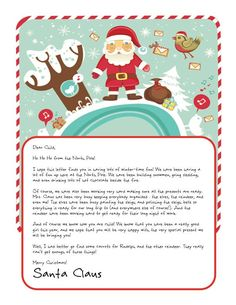 Easy Free Letter From Santa Magical Package  Printable Letters