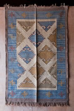 Imported from Jodhpur, India, our Flat-Weave Dhurrie Rugs are vegetable dyed and handwoven from a sturdy wool and hemp blend, then finished with