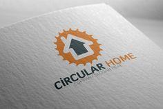 Circular Home Logo Templates - 100 Editable ¨C 100 Re-sizable ¨C 100 vectors- Vertical & horizontal layout- Variations : by Josuf Media Badge Template, Logo Templates, Music Festival Logos, Crest Logo, Construction Logo, Company Slogans, Home Logo, Vector Pattern, Logo Design