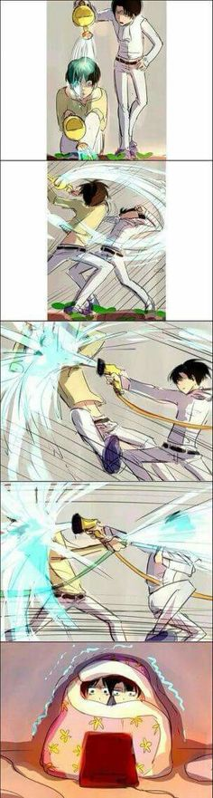 Levi and Eren battle