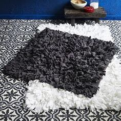 Love the large white rug for my bedroom. I have two small black rugs in my bathroom and love them!