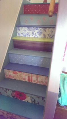 Decoupage stairs