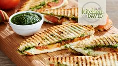 David's Recipes - how to make a Panini, easy lunch ideas Take all the flavors of a classic Caprese Salad and transform them into a great sandwich. Find More ...