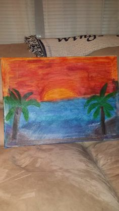 My First scene I did with melting crayons., took close to 12 hours to get the end result :)