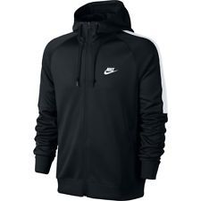 Nike Tribute Men's Sports Hoodie Navy Hooded Track Top Sweatshirt