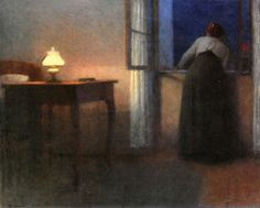 Jakub Schikaneder - Evening Interior by irinaraquel, via Flickr
