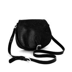 Coach vintage leather Saddle bag -- Black. Made in USA
