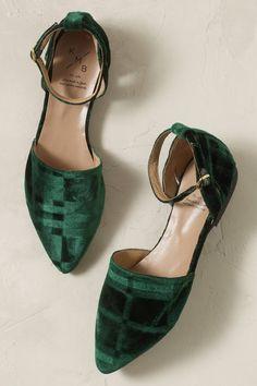 green velvet flats http://www.anthropologie.com