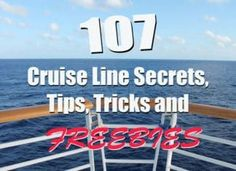 Want to get the absolute most out of your cruise? We've rounded up more than 100 of the best tips and hacks for making your cruise all the better. From saving money to things that cruise lines don't like to talk about, it's all here. Packing List For Cruise, Cruise Travel, Cruise Vacation, Vacation Trips, Packing Tips, Disney Cruise, Europe Packing, Cruise Checklist, Cruise Excursions