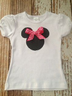 abe546a679f Girl's Minnie Mouse Shirt, Birthday Party Shirt, Disney Vacation Shirt -  Girl, Toddler