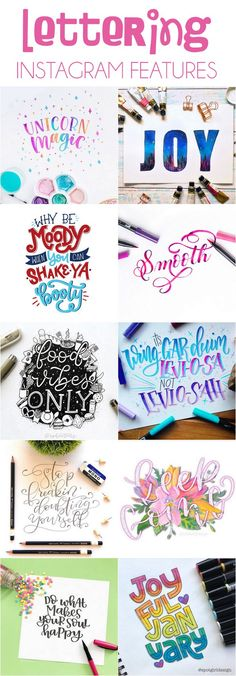 Lettering Inspiration: Instagram Features. I handpicked ten inspiring examples of lettering from our Instagram community to highlight this month! #handlettering #lettering