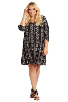 PinkBlush Maternity Printed 3/4 Sleeve Plus Size Dress *** Unbelievable  item right here! : Plus size maternity