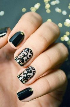 Simple Black Nail Art Designs 2017 – styles4woman…