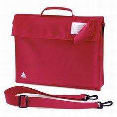 01cbf3df4429 Quadra junior book bag with strap in red