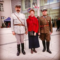 Bags on Tour in Bydgoszcz, Poland. The town is full of people in old uniforms for