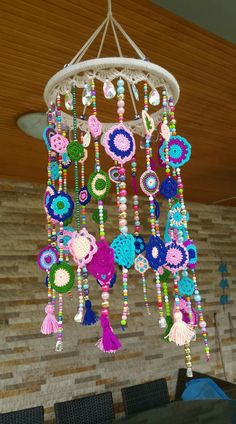 Bohostyle Dream catchers bright color knitted dream catchers handmade wall decor home decor wall hanging dream catcher Crochet Home Decor, Crochet Crafts, Crochet Projects, Mode Crochet, Knit Crochet, Boho Diy, Boho Decor, Dreamcatcher Crochet, Dream Catcher Decor