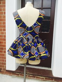 Ankara peplum top by Roshes on Etsy