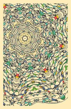 Central Park, December 3  - giclee art print abstract fine linear art print design kaleidoscope art print abstract geometric design. $25.00, via Etsy.