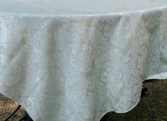 Teal Damask Tablecloth Ships Free by MyEmbellishments on Etsy, $17.95