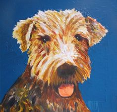 Blue Airedale by Ed Hofer