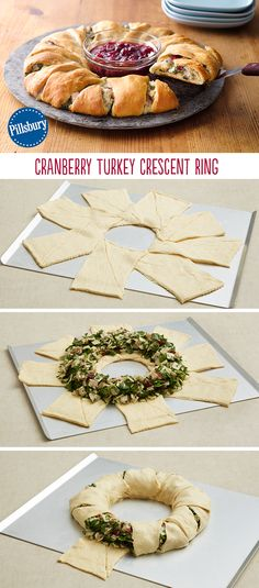 Leftovers after Thanksgiving? You're in luck! Try using them in this fun Cranberry Turkey Crescent Ring. It easily combines your favorite holiday flavors in a beautiful ring.