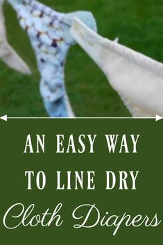 Cleaning your cloth diapers just got much easier with this easy way to line dry diapers! This one trick saves time and all you need is two clothes pins! Natural Baby, Natural Living, Natural Life, Natural Teething Remedies, Natural Remedies, Used Cloth Diapers, Cloth Nappies, Kids Clothesline, Eco Kids