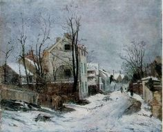 athousandwinds: Iarna la Barbizon (Winter in Barbizon), oil on canvas by Ion Andreescu, Romanian artist of landscapes and member of the Barbizon School of painting. Andreescu was one of founders of Romanian painting. Great Paintings, Art Database, Oil Painting Reproductions, Artist Painting, Beautiful Artwork, Art And Architecture, Lovers Art, Fine Art, Barbizon School