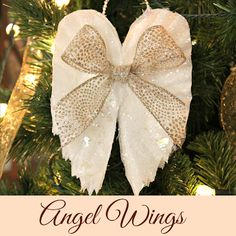★ Soulful White ★ sparkling angel wings made from coffee filters, christmas decorations, crafts, seasonal holiday decor Christmas Ornament Wreath, Christmas Angels, Christmas Time, Christmas Decorations, Christmas Ideas, Diy Angel Decorations, Christmas Poinsettia, Christmas Coffee, Christmas Sweets