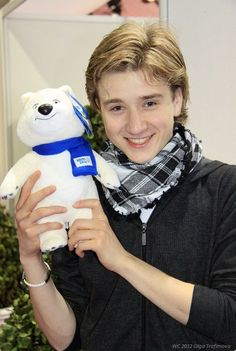 Misha with Sochi 2014 mascot