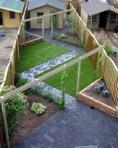 Minimalist Garden Design Ideas For Small Garden 45 Back Garden Design, Backyard Garden Design, Small Backyard Landscaping, Terrace Garden, Garden Paths, Terrace Design, Backyard Bbq, Garden Beds, Garden Design Layout Modern