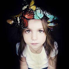 butterfly headpiece.