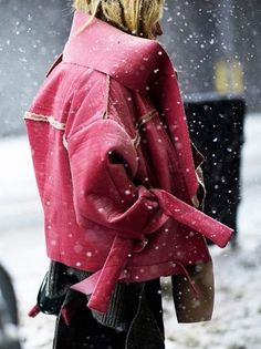 Victoria De La Fuente in a Daniel Gregory Natale Coat, now that's a stunning look right there.