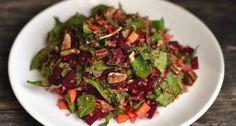 Céklás-spenótos bulgursaláta recept: Különleges saláta amely önmagában, vagy köretként is szuperül megállja a helyét! Próbáld ki te is ezt a Céklás-spenótos bulgursaláta receptet!
