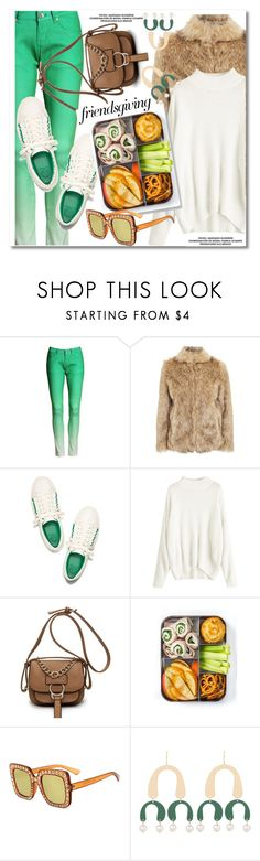 """""""Gather 'Round: Friendsgiving"""" by paculi ❤ liked on Polyvore featuring Topshop, Tory Burch and friendsgiving"""