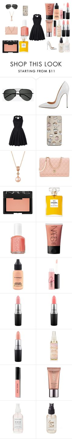"""""""Golden"""" by grierstyle ❤ liked on Polyvore featuring Yves Saint Laurent, LE VIAN, Chanel, NARS Cosmetics, Essie, MAC Cosmetics, Bobbi Brown Cosmetics, Urban Decay and Olivine"""
