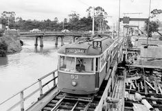 It is the original bridge over the maribyrnong on the left,with the Anglers just out of shot,vehicles used that bridge and trams used the one you see in pic,that tram ran moonee ponds to Footscray down maribyrnong rd over tram bridge onto Raleigh rd Melbourne Tram, Melbourne Australia, Melbourne Victoria, Victoria Australia, Old Pictures, Old Photos, Nice Photos, Ascot Vale, Train Map