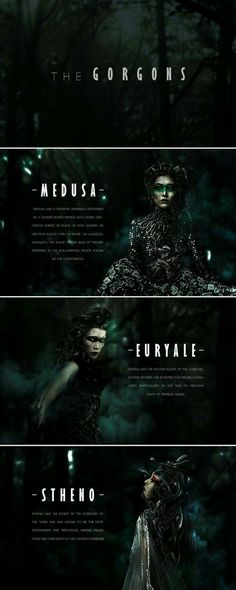 """Medusa and her two sisters Euryale and Stheno were """"gorgons."""" They were all children of the ancient marine deities Phorcys and his sister Ceto. They lived on an island called Sarpedon near Cisthene. Greek Gods And Goddesses, Greek And Roman Mythology, Greek Mythology Names Female, Medusa Greek Mythology, Goddess Names, Story Inspiration, Writing Inspiration, Character Inspiration, Angels And Demons"""