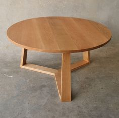 PURE Solid Oak round dining table for a client in Peregian Beach, QLD Custom Made Furniture, Bespoke Furniture, Oak Dining Table, Dining Area, Modern Table, White Oak, Solid Oak, Pure Products, Interior Design