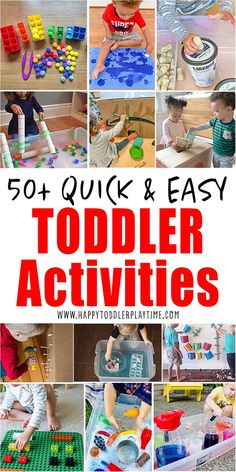 The best EASY, quick, no- and low-prep toddler activities period! If you are looking for easy ways to entertain your toddler you have come to the right place. Check out these super simple to set up and clean up toddler activities that they will love! Autistic Toddler, Toddler Play, Toddler Learning, Toddler Snacks, Toddler Preschool, Toddler Crafts, Outdoor Activities For Toddlers, Activities For 2 Year Olds, Infant Activities