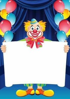 large print hd Transparent Birthday Frame with Clown Birthday Photo Frame, Happy Birthday Frame, Birthday Frames, Happy Birthday Messages, Circus Birthday, Birthday Photos, It's Your Birthday, Birthday Cards, Birthday Gifts
